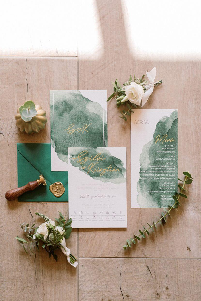 greenery esküvői meghívó,Esküvői meghívó, modern Esküvői meghívó, egyedi Esküvői meghívó